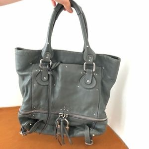 Chloe Paddington Tote Bag (LARGE) in steel gray